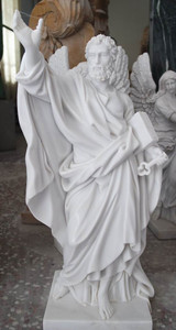 Saint Peter 24in White Marble 16350