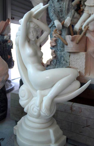 Woman Resting - White Marble
