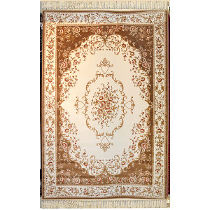 Ivory brown Aubusson Design Area Rug 13ft X 16ft