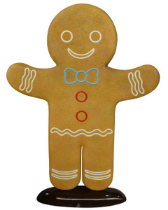Christmas Gingerbread Man 6Ft Fiberglass Novelty Collectable Decor