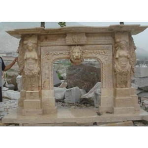 Travertine Lion Mantle (38x42)