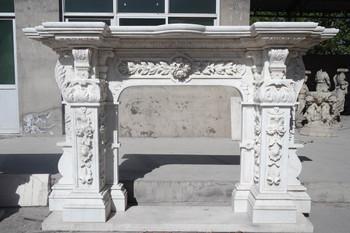 White Marble Mantel (43x43.75) 15399