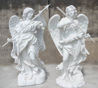 Guardian Angels Set - White Marble