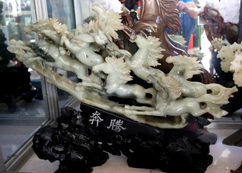 Galloping Horses - Multi Colored Jade