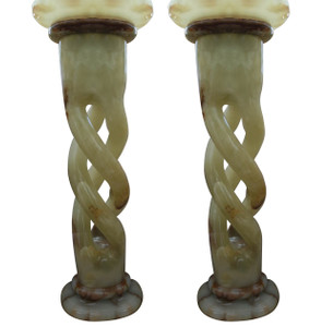 Pair of Pedestals - Jade