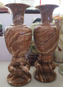 Pair of Vase - Multi Color Marble