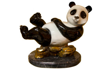 Panda Bear on Marble Base
