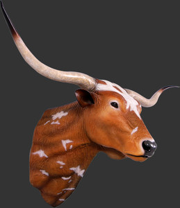 "40""H Texas Longhorn Wall Mount Fiberglass Novelty Collectable Decor"