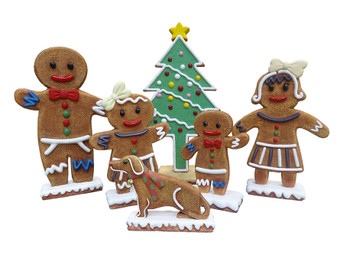 Mini Gingerbread Family  Set of 6 (KIT)