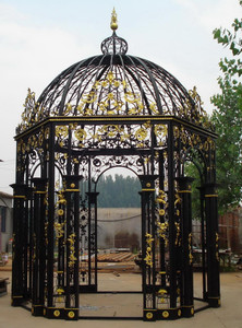 Ornate Iron Gazebo