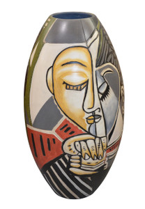 Picasso Style Modern Face  Vase