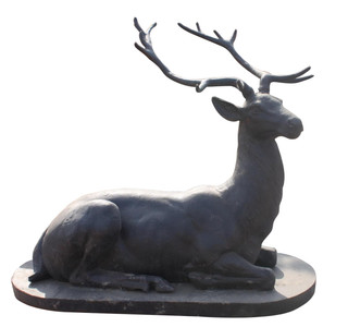 Lying Iron Deer Sculpture 4178B