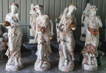 Four Seasons on Base Multi Color Marble 16630