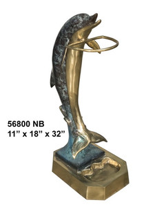 Dolphin on Base (Special Patina) - Bronze