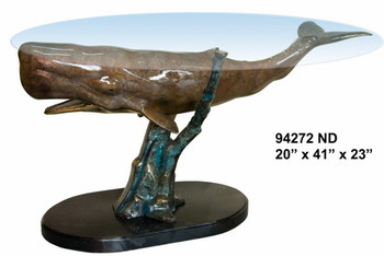 Whale Table on Marble Base (Special Patina)