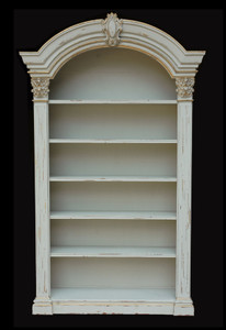 Continental Casual Bookcase   White Chalk