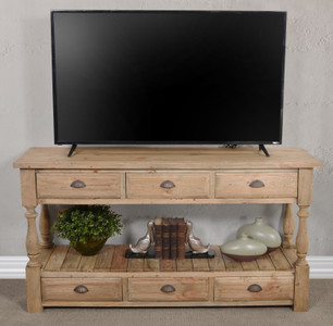 Farmhouse 6 drawer Console Table