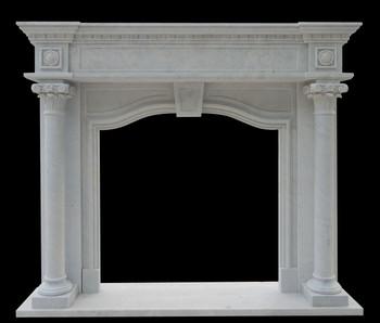 White Marble Mantel (42x42) 16570A