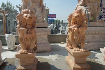 PR - Sitting Lions - Beige  Marble