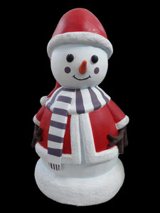 "35""H Christmas Large Jane Snow Fiberglass Statue Novelty Collectable Décor"