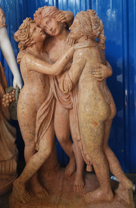 Three Sisters on Base Beige Marble 17188