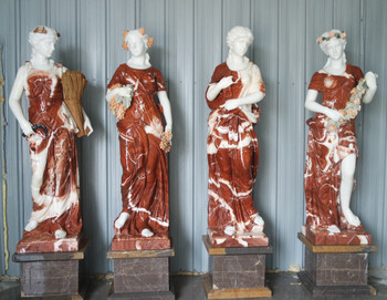 Four Seasons on Base Multi Color Marble 16995
