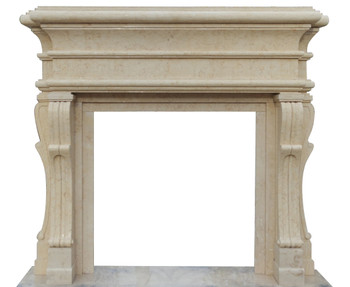 Mantel - Marble Fireplace - Egyptian Beige (42x42) 16558