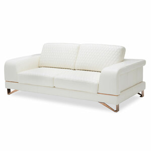 BiancaLeather Standard Sofa in WhiteRose Gold - E2 -On Sale Michael Amini AICO