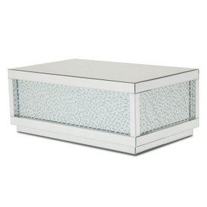 MontrealRect Silver Mirrored Cocktail Table w/Crystals - E2 -On Sale Michael Amini AICO