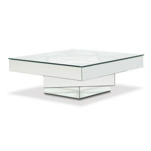 MontrealSquare Cocktail Table w/ Glass Top - E2 -On Sale Michael Amini AICO