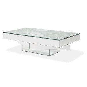 MontrealRect. Cocktail Table w/ Glass Top - E2 -On Sale Michael Amini AICO