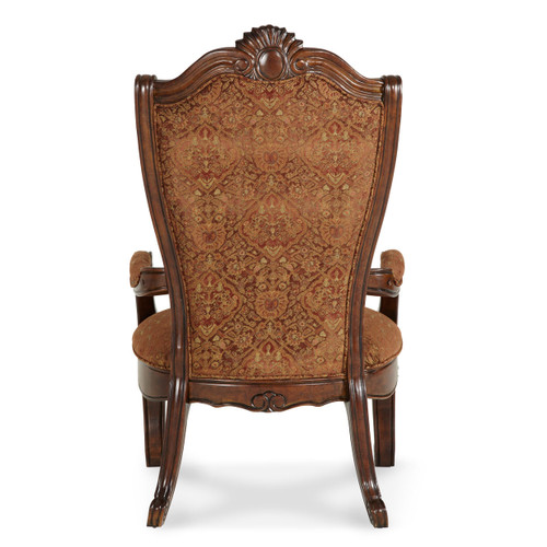 Windsor CourtArm Chair-FabricBackVintage Fruitwood - Michael Amini AICO Furniture - 70004-54