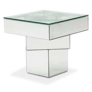 MontrealEnd Table w/ Glass Top - E2 -On Sale Michael Amini AICO