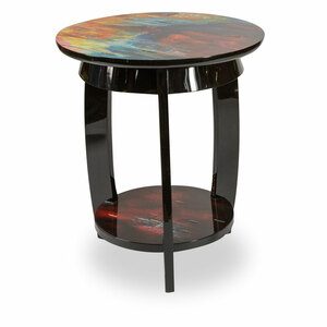 IllusionsRound Chair Side Table - E2 -On Sale Michael Amini AICO