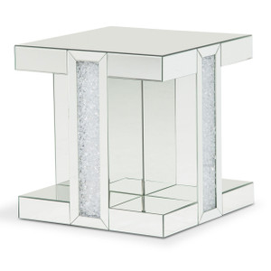 MontrealMirrored End Table - E2 -On Sale Michael Amini AICO