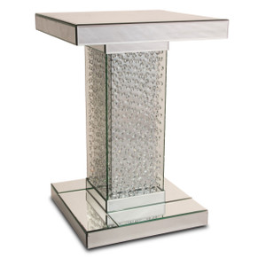 MontrealMirrored Accent Table w/Crystals - E2 -On Sale Michael Amini AICO