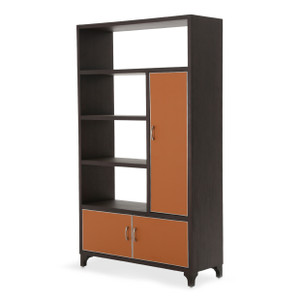 21 CosmopolitanRight Bookcase Cab. w/DoorsDblo Orange/Umbr