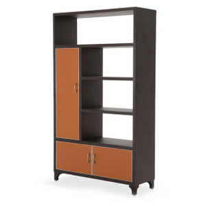 21 CosmopolitanLeft Bookcase Cab. w/DoorsDblo Orange/Umbr