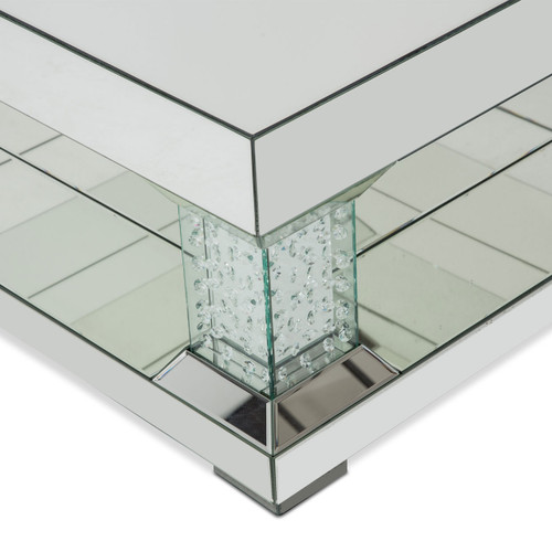 Montrealmirrored Cocktail Table W Crystal Accents