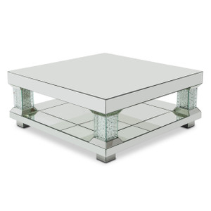 MontrealMirrored Cocktail Table w/Crystal Accents - E2 -On Sale Michael Amini AICO