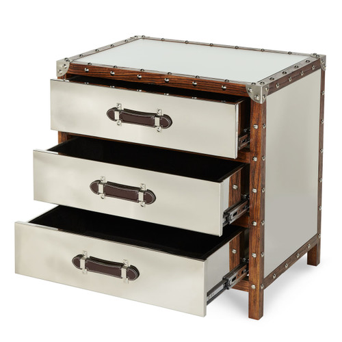 Trunk 3-Drawer Chest - Michael Amini AICO Furniture - ACF-TNK-CHST3-04