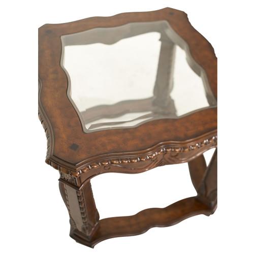 Windsor CourtEnd Table Vintage Fruitwood - Michael Amini AICO Furniture - 70202-54