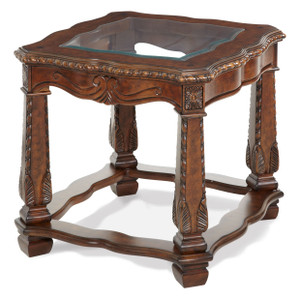 Windsor CourtEnd Table Vintage Fruitwood - E2 -On Sale Michael Amini AICO