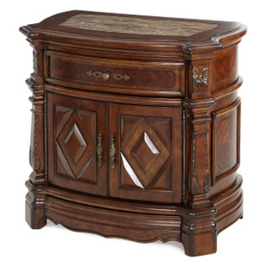 Windsor CourtNight Stand Vintage Fruitwood - E2 -On Sale Michael Amini AICO