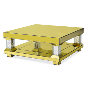 MontrealRectangular Cocktail Table w/Gold Mirror - E2 -On Sale Michael Amini AICO