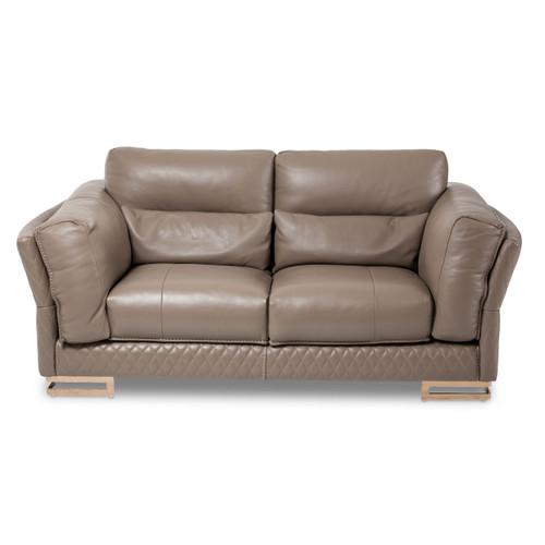 MonicaLeather LoveSeat in TaupeRoseGold - Michael Amini AICO Furniture - MB-MNICA25-TPE-801