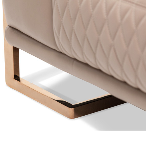 GiannaLeather Chair&Half in Lt.CoffeeRoseGold - Michael Amini AICO Furniture - MB-GIANN38-PCH-801