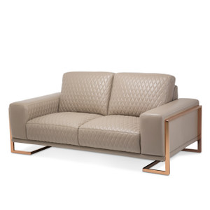 GiannaLeather LoveSeat in Lt.CoffeeRoseGold - E2 -On Sale Michael Amini AICO