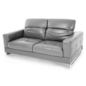 NoveloLeather Loveseat in DarkGreySt.Steel - E2 -On Sale Michael Amini AICO