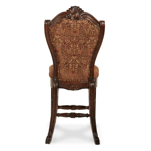 Windsor CourtCounter Height Chair  Vintage Fruitwood - Michael Amini AICO Furniture - 70033N-54